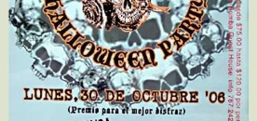 Promoción de la Fiesta de Haloween de Rosa en el Viejo San Juan.