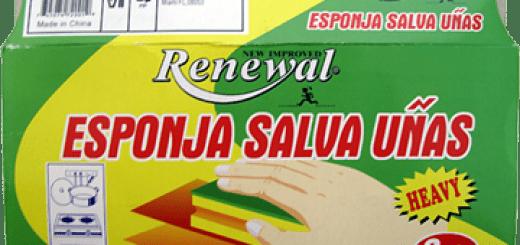 Esponja salva uñas de la marca Renewal.