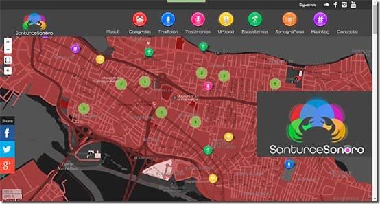 Cartografía Sonora del territorio Santurcino_autogiro arte actual