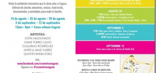 Cromática caguas a color proyecto de Sofia Maldonado, Omar Torres Calvo, Guillermo Rodríguez, Javier y Jaime Suarez, Quintín Rivera toro