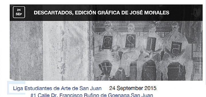 Exhibición de José Morales titulada Descartados en la Liga de Arte