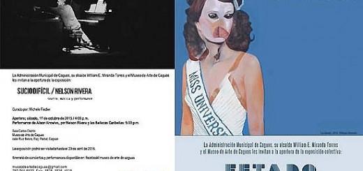 Promoción de exhibición Sucio difícil de Nelson Rivera y la muestra ESTADO experiencia fragmentada.