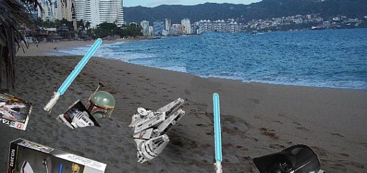 Star Wars toys found on a beach