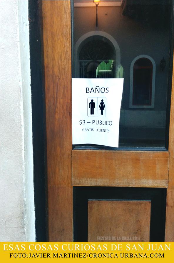 Baños en las Fiestas de la Calle | Esas Cosas Curiosas de San Juan | cronica urbana