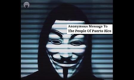 mensaje de anonymous a puerto rico