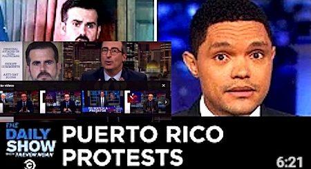 La Televisión de humor Norteamericana habla de las Protestas y de Ricardo Rosselló