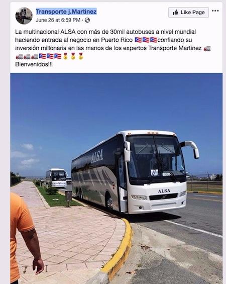 alsa autobuses transportado por j martinez - Servicio de Transporte de Caguas a Viejo San Juan