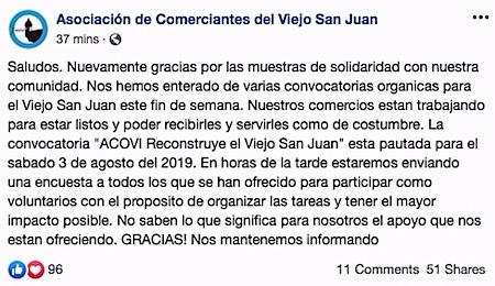 comerciantes san juan dan gracias por apoyo - #GraciasVSJ solicita apoyo a negocios del Viejo San Juan