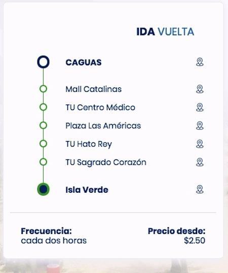 lsa ruta y precios caguas isla verde 2 - Servicio de Transporte de Caguas a Viejo San Juan
