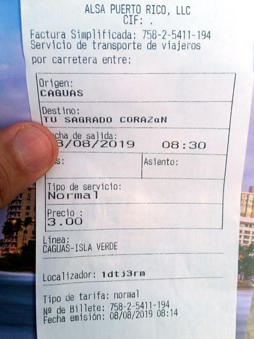 alsa boleto guaguas caguas san juan - Primer Viaje en ALSA de Caguas-San Juan-Isla Verde