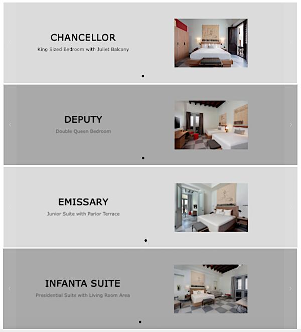 hotel palacio provincial habitaciones - Hotel Palacio Provincial | Viejo San Juan